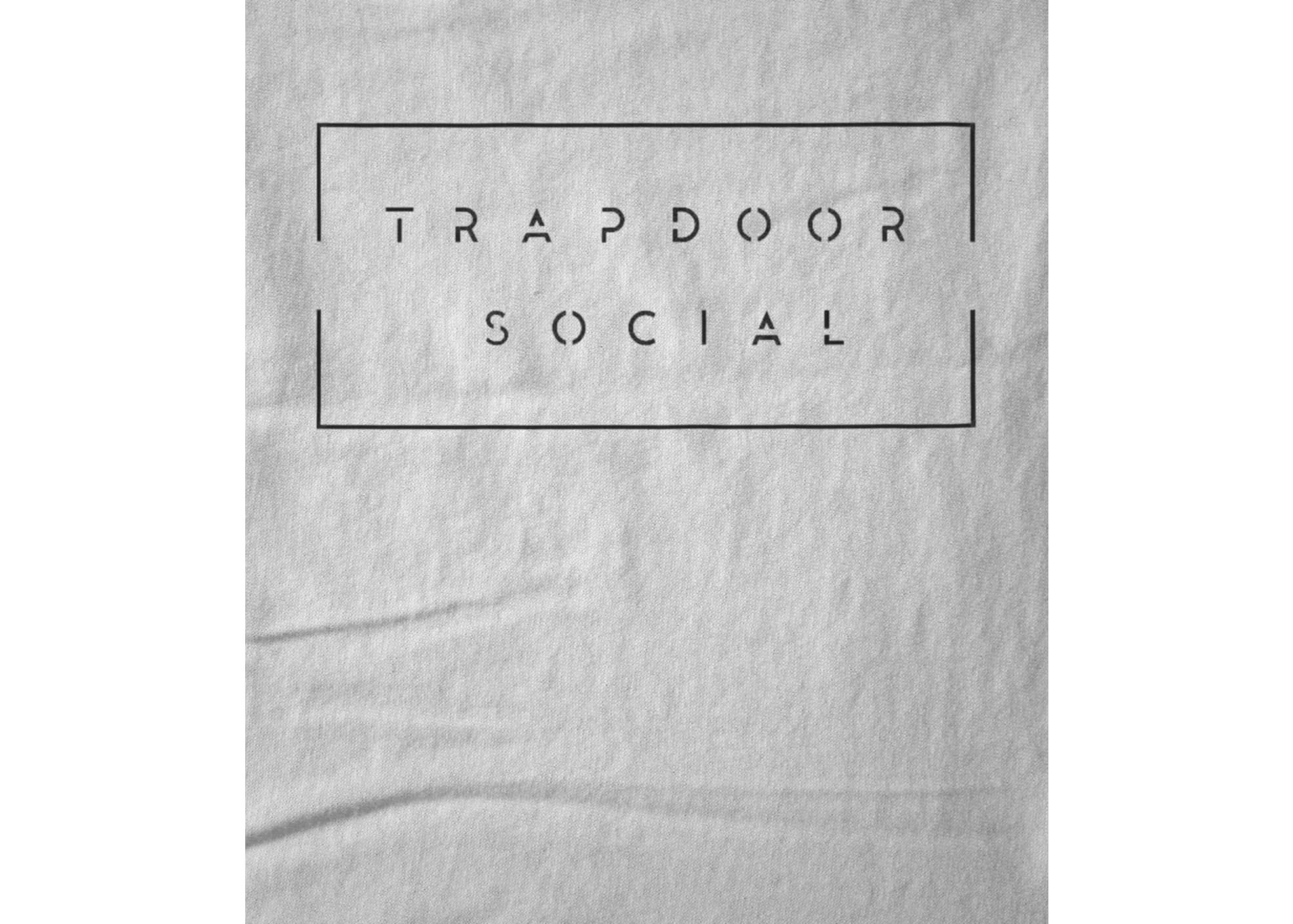 Trapdoor social white band logo 1476398886