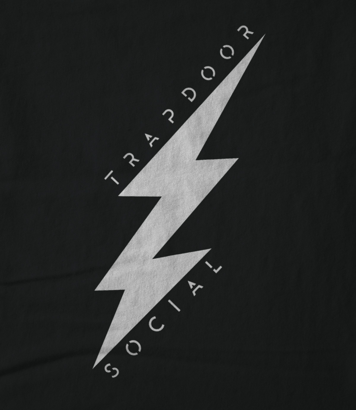 Trapdoor social lightning bolt   black 1476751963