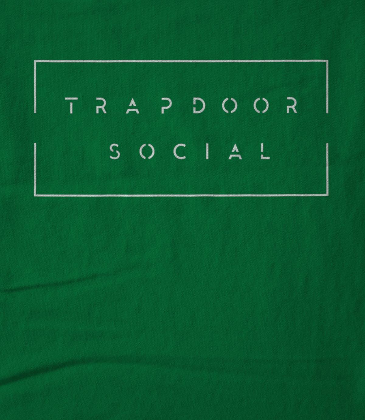 Trapdoor social black band logo 1476401243