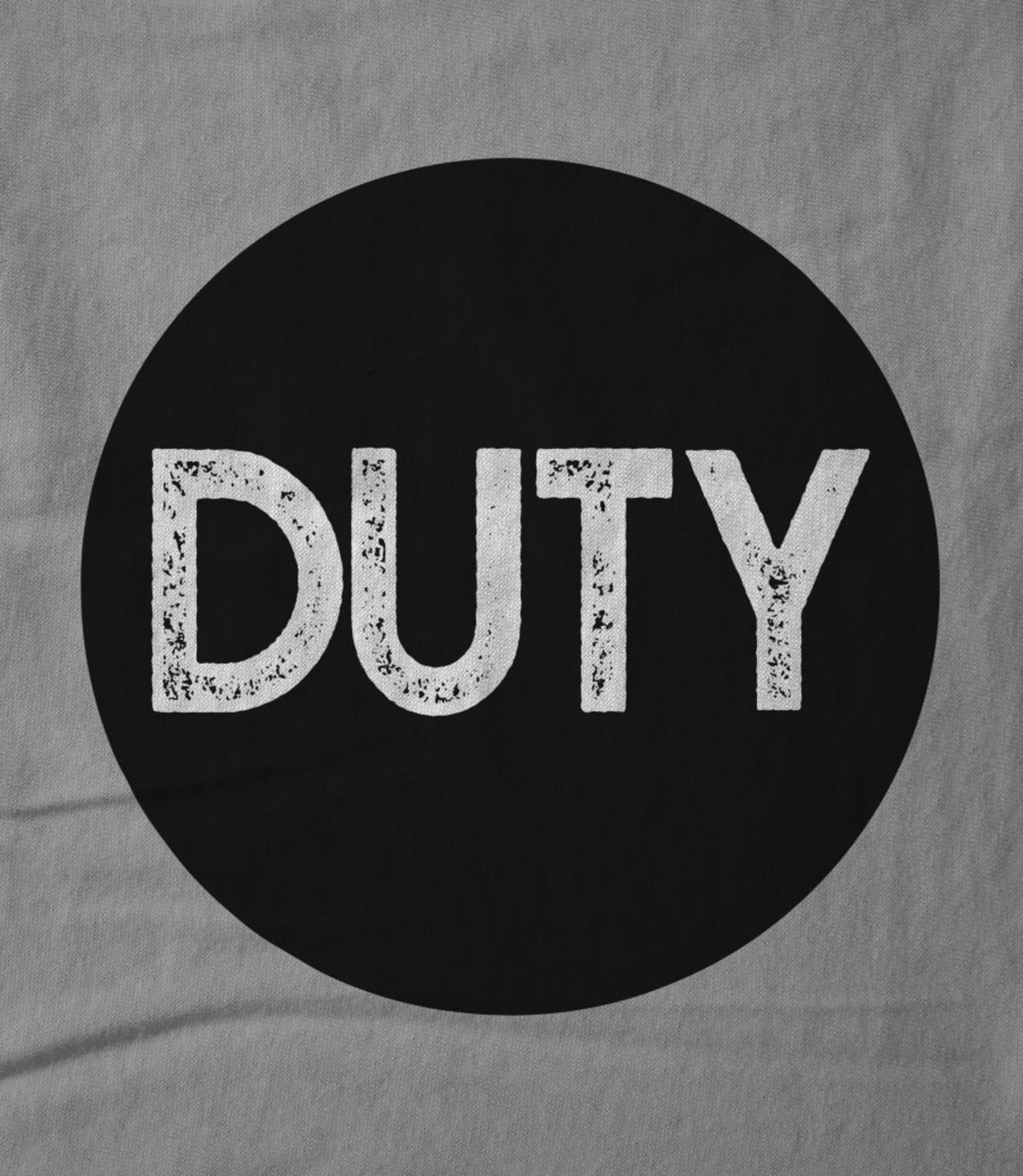 Duty duty circle logo grey 1542364234