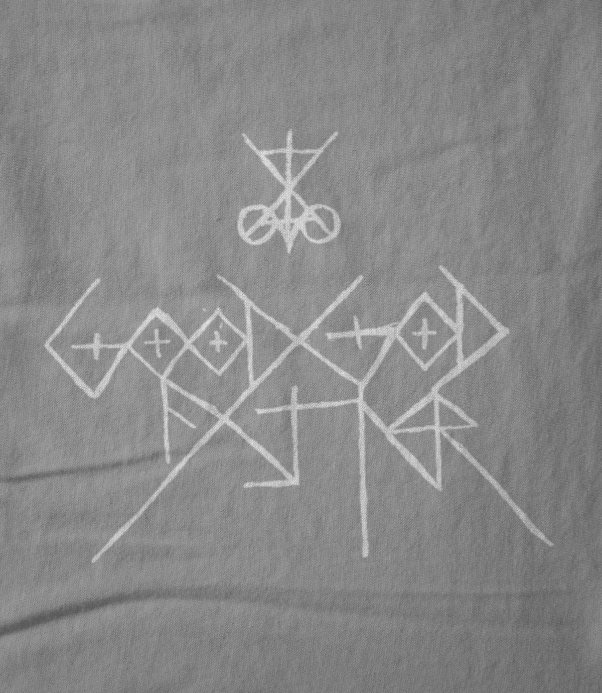 Good god father scribed logo white on grey 1526711719