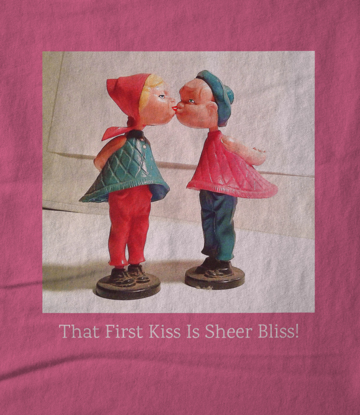Art whimsically yours studio that first kiss is sheer bliss  1510069773
