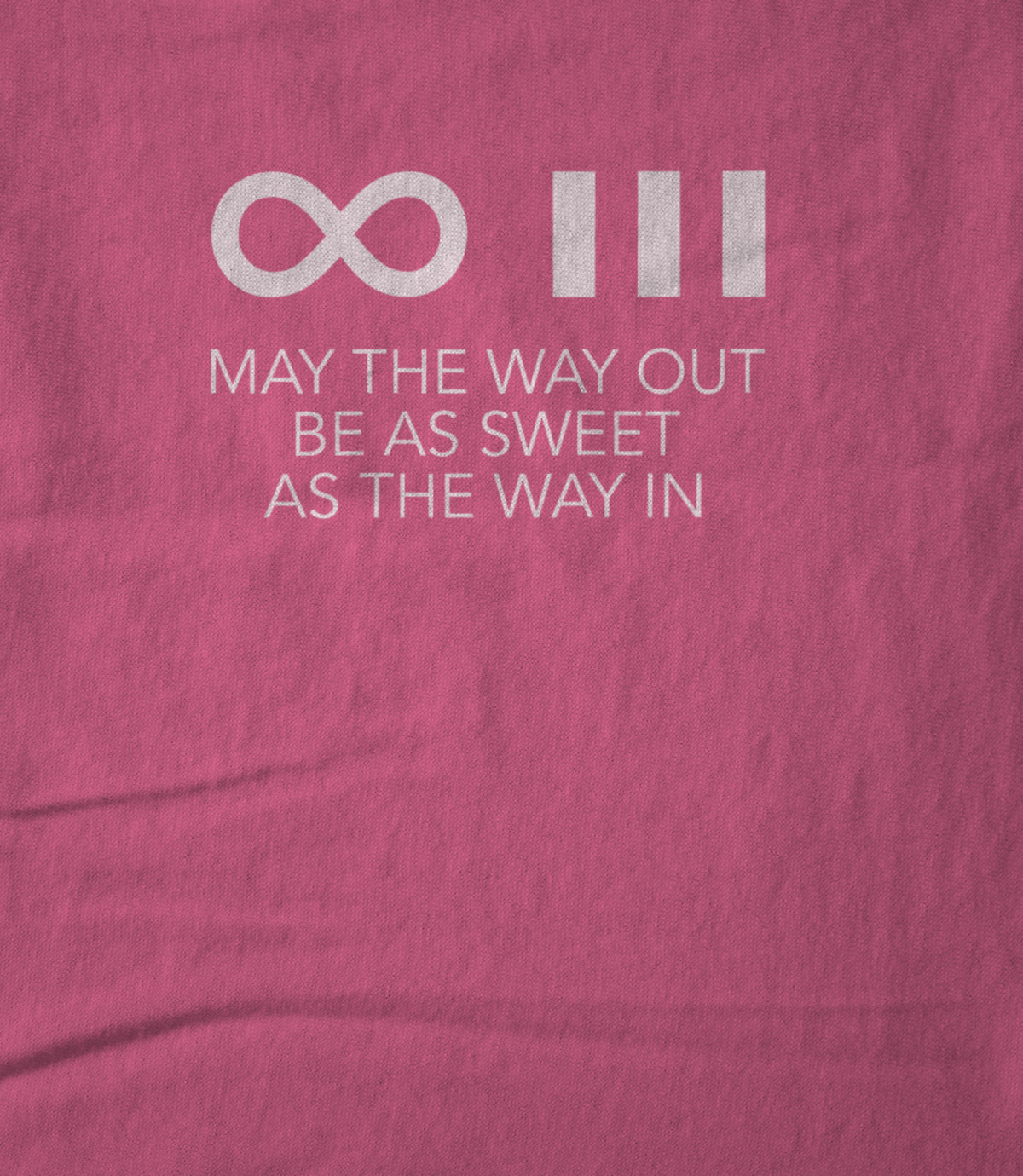 The infinite three pink blessing t shirt 1558392357