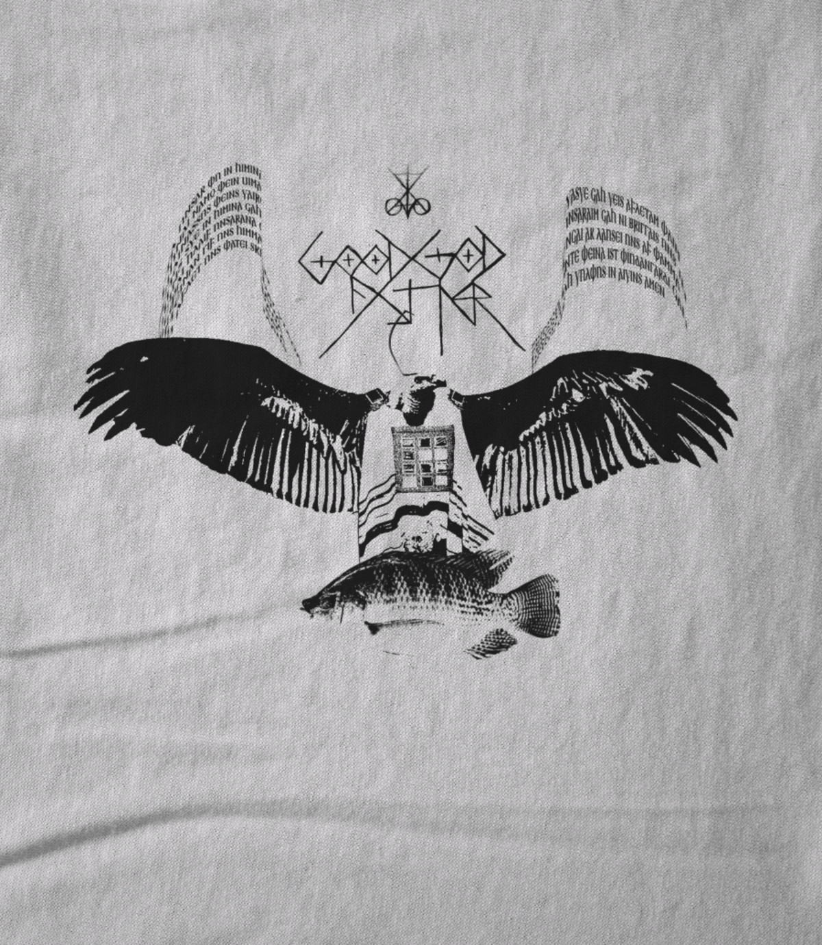 Good god father anti nero vulture black on white 1526704991