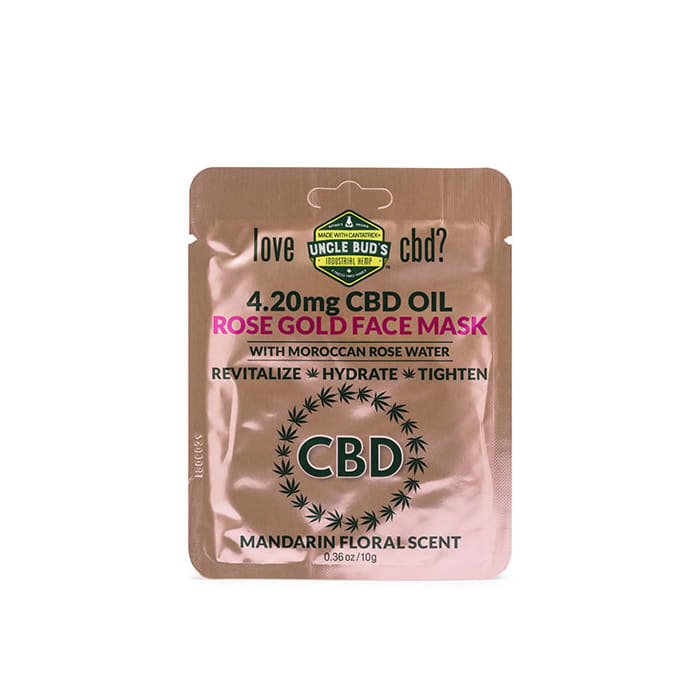 Uncle Bud's Rose Gold CBD Face Mask Sachet
