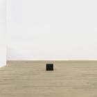 Stephen Lichty, Untitled, 2014, black oxidized steel and basalt, 9 x 10 x 10 in. (23 x 25.4 x 25.4 cm.), SL_FP2776