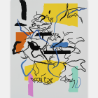 Michael Bell-Smith, Blind on Rips, 2014, vinyl film on polyester painted aluminum composite panel, 47 1⁄2 × 35 5⁄8 in.