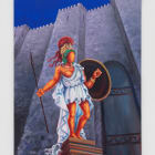 Lady Pink, Brick Goddess, 2019, acrylic on canvas, 30 x 20 in. (76.2 x 50.8 cm)