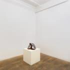 Vincent Fecteau, untitled, 2003, papier-mâchè, acrylic paint,  cord, wood, 11 1/2 x 19 1/2 x 15 1/2 in.