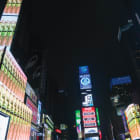 Petra Cortright, Pink_Para 1stchoice, 2018, installation view, Times Square, New York. Programed by Midnight Moment, Times Square Arts with Rhizome, New York.