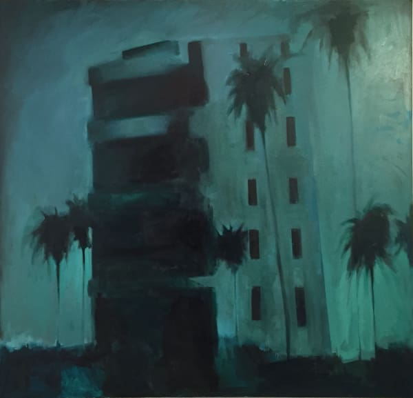 "Palms (Don't be an Insurgent) 2014-2021 oil on canvas 67x70""/171x178cm"