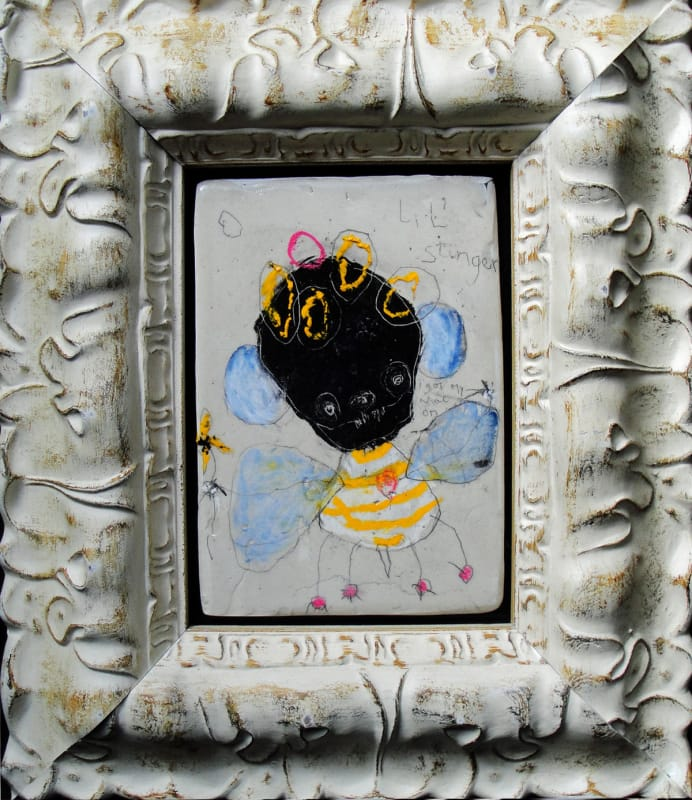 Lil Stinger by Richard Campiglio mixed media 9x11in framed 2013