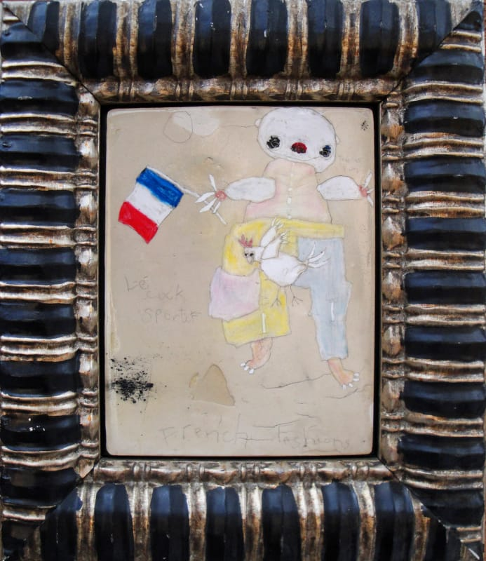 Le Coq Sportif by Richard Campiglio  mixed media 12x14 framed 2013