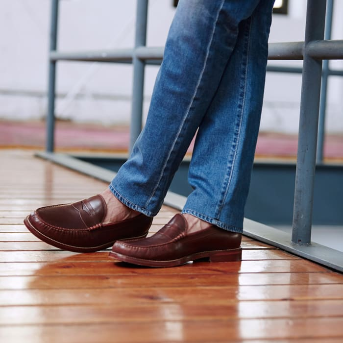 Round toed mens loafers