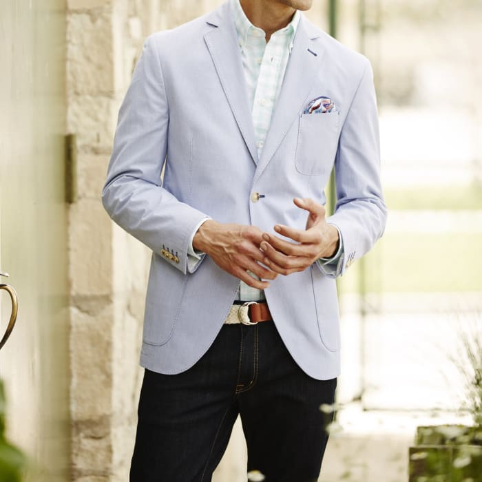 Blazer with jeans square