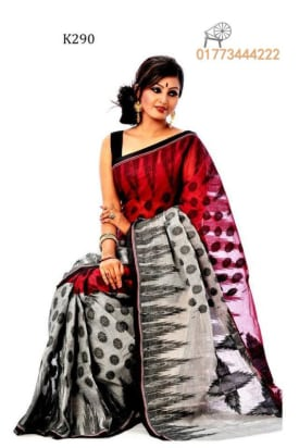 Pure Cotton Tangail Saree-K290