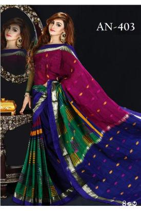 Soft Cotton Tangail Saree-AN-403