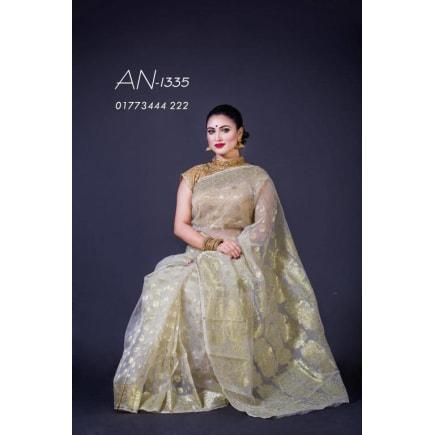 Soft JAMDANI Sari-AN-1335