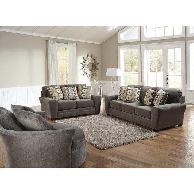Sax Living Room - Sofa & Loveseat - Grey (32970)