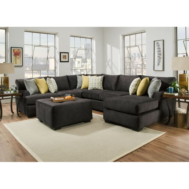 Boulevard Sectional - LSF Corner Sofa, Armless Loveseat, & RSF Chaise - BLVDRSF3PCSEC