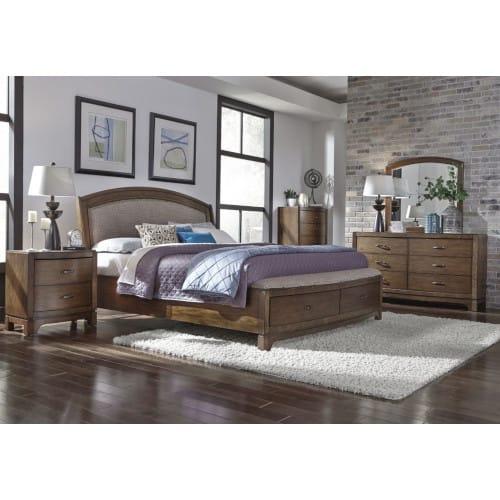 Seville Bedroom - Queen Bed, Dresser & Mirror - SEVILLE3PCQNBR