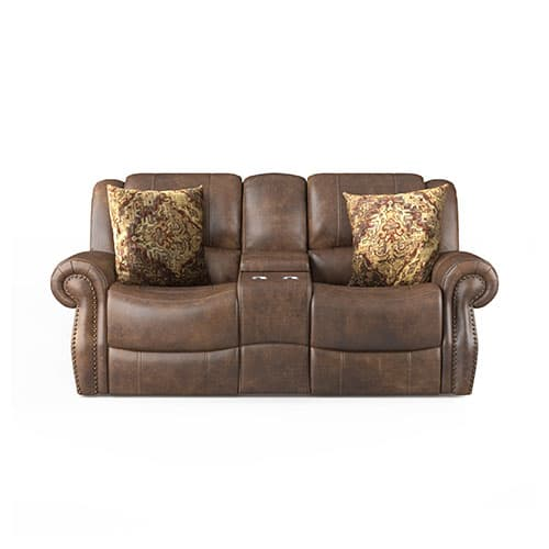 Bronson Reclining Console Collection - Loveseat