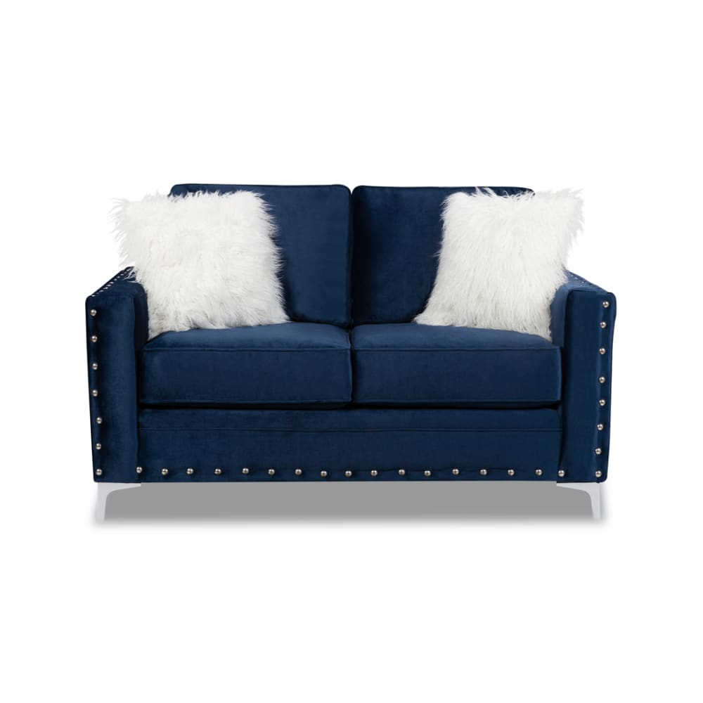 Adrian Blue Collection Loveseat