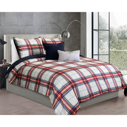 Cedric 5 Piece Reversible Comforter Set - Full / Queen
