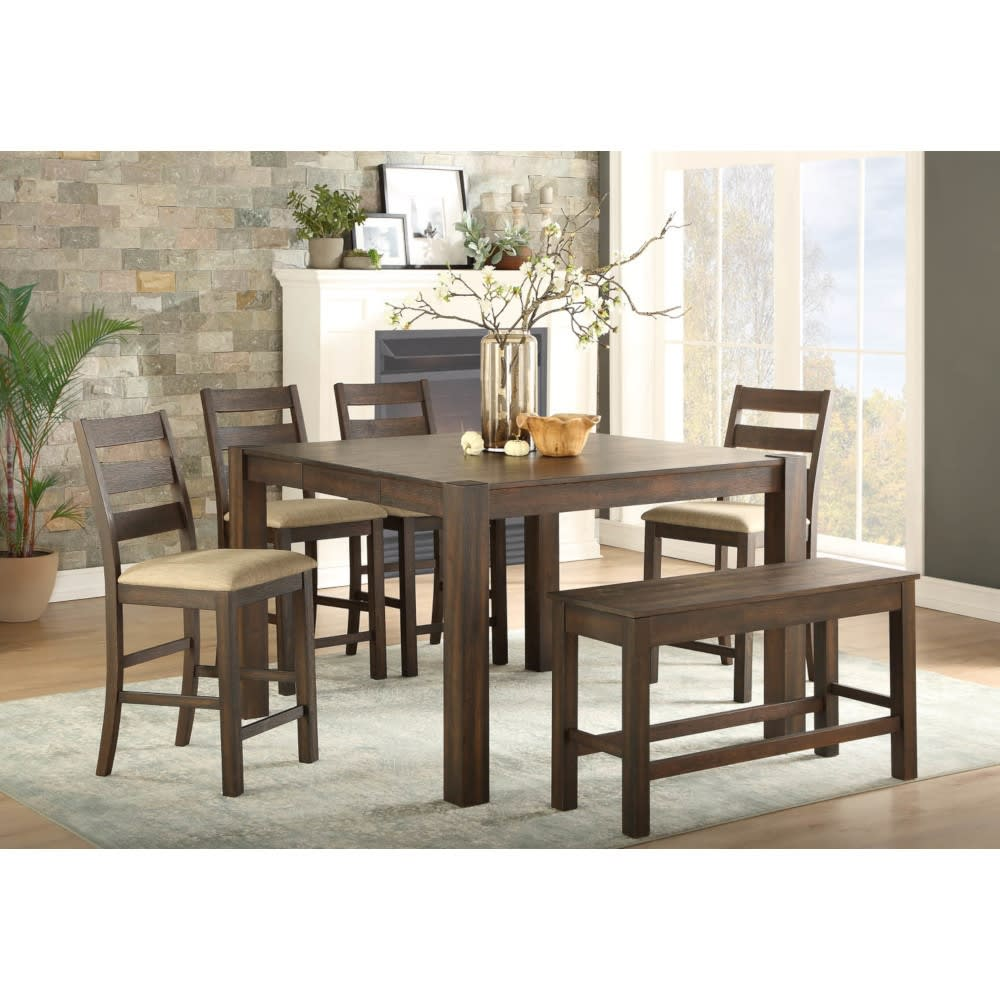 Jamestown Dining - Counter Table & 4 Counter Chairs - JAMESTWNDR