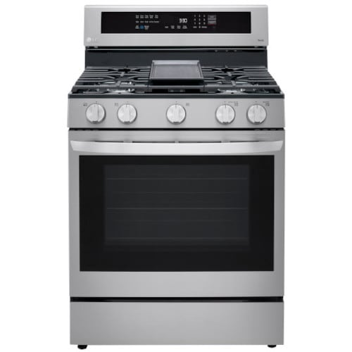 LG 5.8 cu ft. Smart Wi-Fi Enabled True Convection InstaView™ Gas Range with Air Fry - LRGL5825F