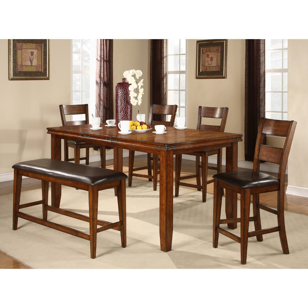 Sierra Ridge Dining - Counter Height Table & 4 Chairs (2700)