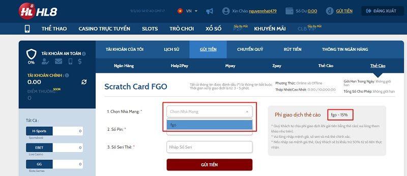cach gui tien tai hl8 help2pay - Bật mí 6 cách gửi tiền tại HL8 dành cho người chơi mới