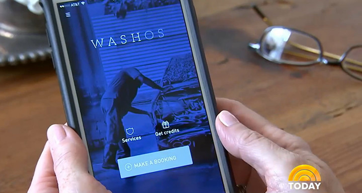Washos featured in the Today Show as one of the most convenient on-demand services