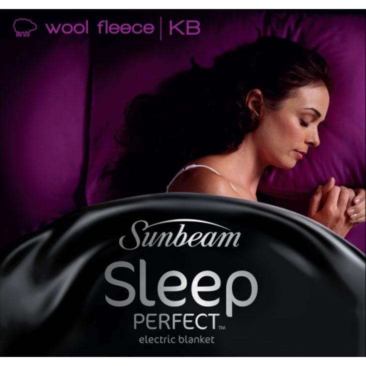 Sunbeam BL5671 Sleep Perfect Wool Fleece King Electric Blanket