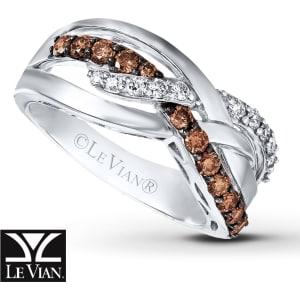 Jared Levian Chocolate Diamonds 58 Ct Tw Ring 14k Vanilla Gold