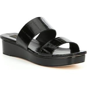 Donna Karan Vera Banded Wedge Sandals lyZSG