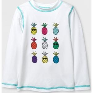 b22f3efa86 Toddler Boys' Pineapple Long Sleeve Rash Guard - Cat & Jack White 6 ...