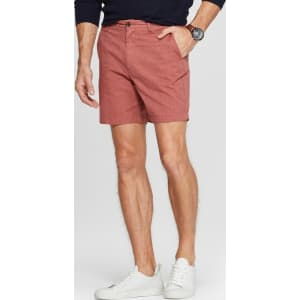 36f68057ef Men's 7 Slim Fit Chino Shorts - Goodfellow & Co Red 36 from Target.