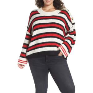 a137c36bd3d6 Plus Size Women s Bp. Button Shoulder Stripe Sweater