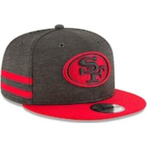 04f027873007c7 Youth New Era Black/Scarlet San Francisco 49ers 2018 NFL Sideline ...