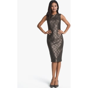 02268941587690 Women s Sleeveless Lace Sheath Dress by White House Black Market ...