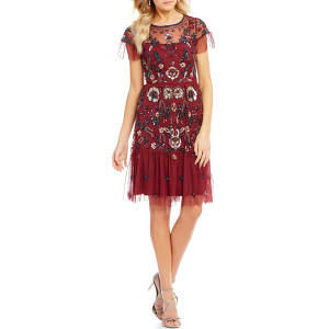d213246895d Gianni Bini Wendy Short Sleeve Floral Sequin Dress from Dillard s.