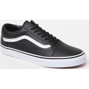 vans old skool premium leather nere