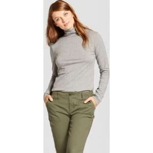 64038e2786e Women s Long Sleeve Turtleneck - A New Day Heather Gray Xl from Target.