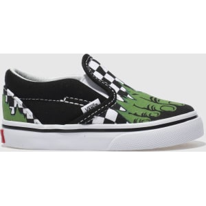 9163f44a621ba0 Vans Black   White Classic Slip-On Marvel Hulk Trainers Toddler from ...