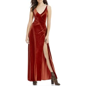 Free People Spliced Velvet Maxi Dress From Dillard S