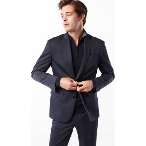 Express Mens Classic Navy Cotton Sateen Suit Jacket