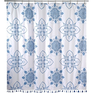 Avanti Portico Tasseled Floral Medallion Shower Curtain From Dillards