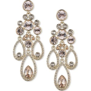 Givenchy gold tone crystal and pave chandelier earrings from macys givenchy gold tone crystal and pave chandelier earrings aloadofball Image collections