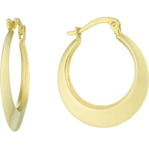 de1b21d40 Together Silver & 9ct Bonded Gold Round Creole Earrings from H.Samuel.